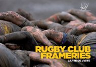 Rugby Club Frameries - Sponsoring 2018