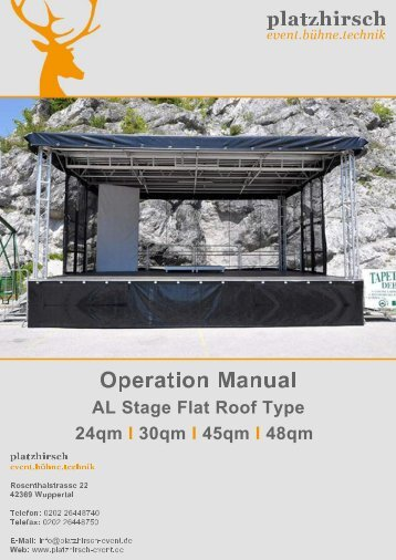 Operation Manual AL Stage S24,S30, S45,S48