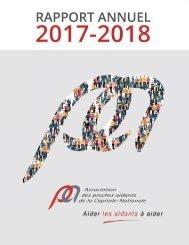 Rapport annuel Association des proches aidants de la Capitale-Nationale 2017-2018
