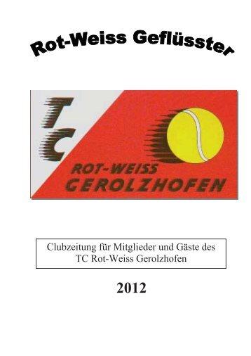 Clubzeitung 2012 - beim TC Gerolzhofen