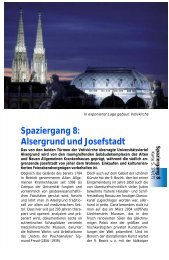 Spaziergang 8: Alsergrund und Josefstadt - WEINBUECHER.de