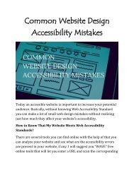Common Website Design Accessibility Mistakes