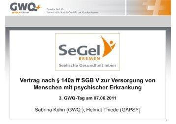 SeGel BREMEN - Gesellschaft für Ambulante Psychiatrische ...