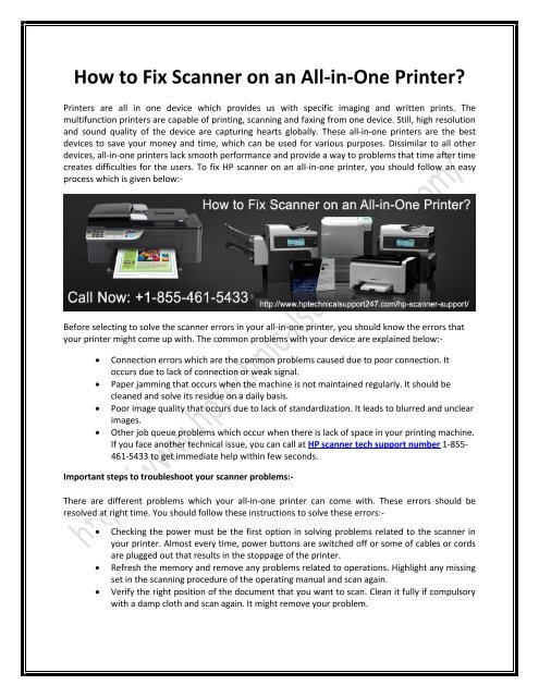 How to Fix Scanner on an All-in-One Printer?