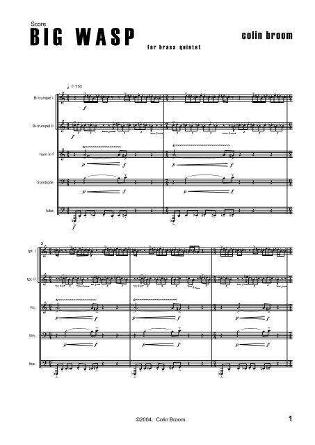 Colin Broom - BIG WASP (score)