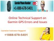 Online Technical Support on Garmin GPS Errors and Issue