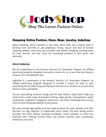 Shopping Online Fashion, Shoes, Bags, Jewelry, Jodyshop