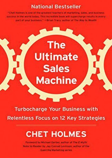 PDF The Ultimate Sales Machine: Turbocharge Your Business with Relentless Focus on 12 Key Strategies   Ebook