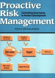 PDF Proactive Risk Management: Controlling Uncertainty in Product Development | Download file