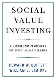 Free Social Value Investing: A Management Framework for Effective Partnerships (Columbia Business School Publishing) | Download file