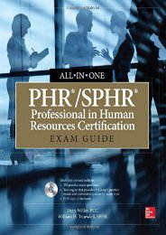 Download PHR/SPHR Professional in Human Resources Certification All-in-One Exam Guide | pDf books