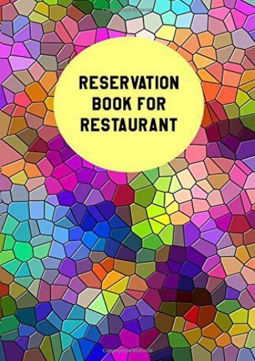 "Free Reservation Book For Restaurant: Restaurant Reservation Book|6"" x 9"",100 Pages (Volume 1) 