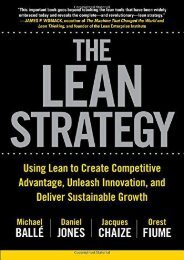 Read The Lean Strategy: Using Lean to Create Competitive Advantage, Unleash Innovation, and Deliver Sustainable Growth | Online