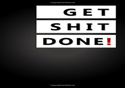 PDF Get Shit Done!: To Do Notepad, Planner and Journal (Simple Daily
