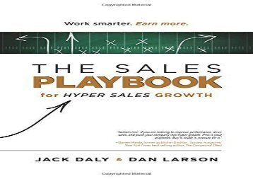 Download The Sales Playbook: For Hyper Sales Growth | PDF File