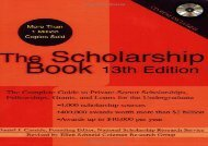 PDF The Scholarship Book: The Complete Guide to Private-Sector Scholarships, Fellowships, Grants, and Loans for the Undergraduate (Scholarship Books (Paperback)) | pDf books