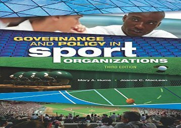 Free Governance and Policy in Sport Organizations (Sport Management) | Download file