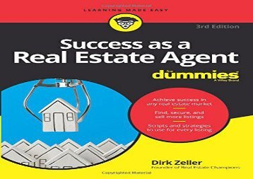 PDF Success as a Real Estate Agent For Dummies, 3rd Edition | Ebook