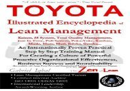 Read TOYOTA Illustrated Encyclopedia of Lean Management: An Internationally Proven Practical Step by Step Training Manual for Creating a Culture of Business Success and Sustainability | pDf books