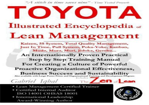 Read TOYOTA Illustrated Encyclopedia of Lean Management: An