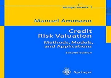 Read Credit Risk Valuation: Methods, Models, and Applications (Springer Finance) | PDF File