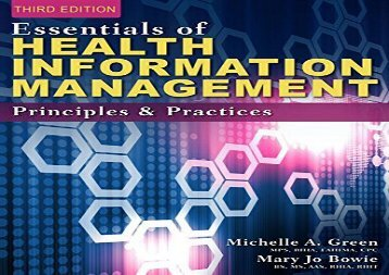 Download Essentials of Health Information Management: Principles and Practices (Mindtap Course List) | Download file