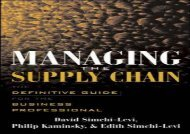 PDF Managing the Supply Chain: The Definitive Guide for the Business Professional   Download file