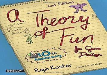 Read Theory of Fun for Game Design | pDf books