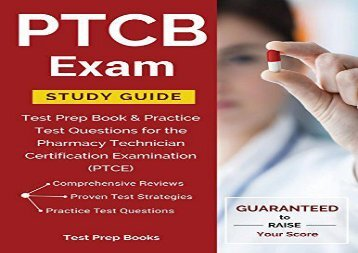 Download PTCB Exam Study Guide: Test Prep Book   Practice Test Questions for the Pharmacy Technician Certification Examination (PTCE) | PDF File