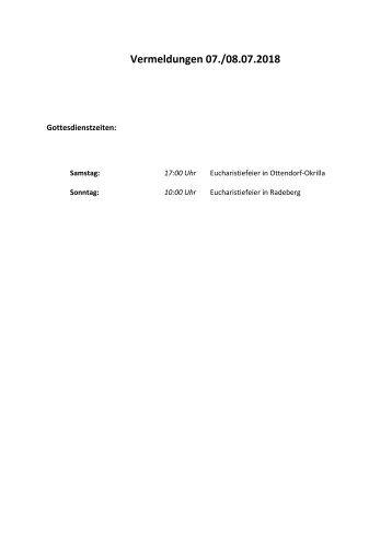 Vermeldungen für KW28/18