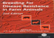 [+][PDF] TOP TREND Breeding for Disease Resistance in Farm Animals (Cabi Publishing)  [NEWS]