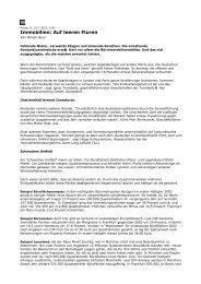 Immobilien: Auf leeren Fluren - AECON GmbH