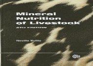 [+][PDF] TOP TREND Mineral Nutrition of Livestock (CABI) [PDF]