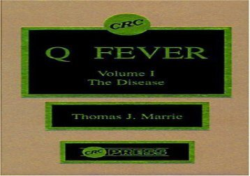 [+][PDF] TOP TREND Q Fever, Volume I: The Disease: The Disease v. 1  [NEWS]
