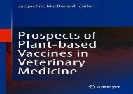 [+]The best book of the month Prospects of Plant-based Vaccines in Veterinary Medicine  [NEWS]