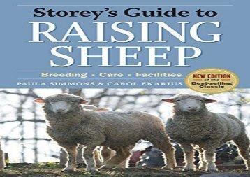[+][PDF] TOP TREND Storey s Guide to Raising Sheep (Storeys Guide to Raising) (Storey s Guide to Raising (Paperback))  [DOWNLOAD]