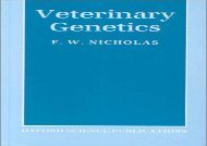 [+][PDF] TOP TREND Veterinary Genetics (Oxford science publications)  [NEWS]