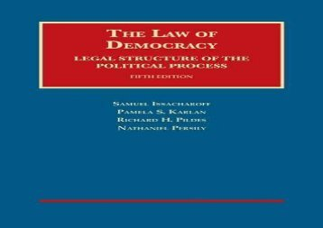 [+][PDF] TOP TREND The Law of Democracy: Legal Structure of the Political Process (University Casebook Series)  [READ]