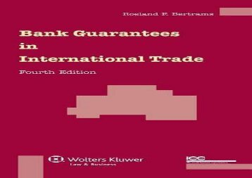 [+]The best book of the month Bank Guarantees in International Trade  [NEWS]