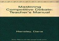[+][PDF] TOP TREND Mastering Competitive Debate: Teacher s Manual  [DOWNLOAD]