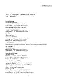 Ausgewählte Referenzen - Synexus GmbH