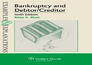 [+]The best book of the month Examples   Explanations for Bankruptcy and Debtor Creditor  [FULL]