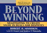 [+]The best book of the month Beyond Winning: Negotiating to Create Value in Deals and Disputes [PDF]