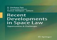[+]The best book of the month Recent Developments in Space Law: Opportunities   Challenges  [FREE]