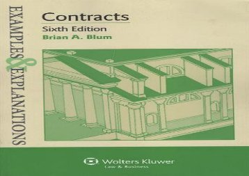 [+]The best book of the month Examples   Explanations: Contracts, Sixth Edition  [NEWS]