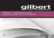 [+][PDF] TOP TREND Gilbert Law Summary on Agency, Partnership and LLCs (Gilbert Law Summaries)  [READ]