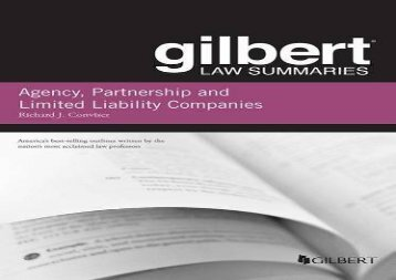 [+][PDF] TOP TREND Gilbert Law Summary on Agency, Partnership and LLCs (Gilbert Law Summaries)  [READ]