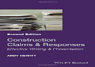 [+][PDF] TOP TREND Construction Claims and Responses: Effective Writing   Presentation [PDF]