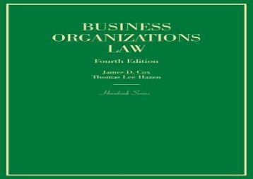 [+]The best book of the month Business Organizations Law (Hornbook Series)  [FULL]