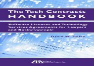 [+]The best book of the month The Tech Contracts Handbook: Software Licenses and Technology Services Agreements for Lawyers and Businesspeople  [DOWNLOAD]